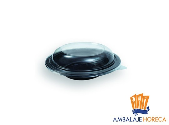 Caserola din plastic pentru salata rotunda