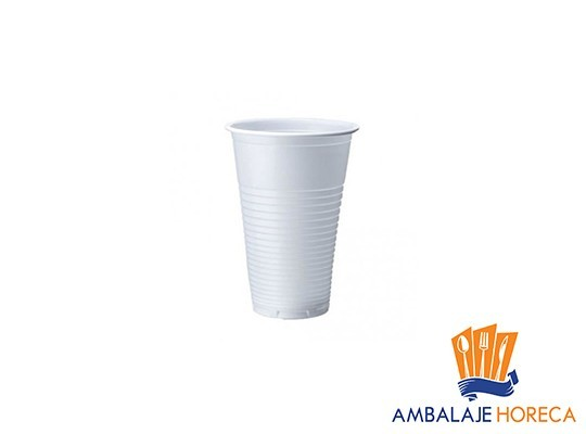 Pahare din plastic albe DOPLA